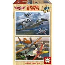 Puzzle 50x2 Planes Madera