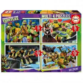 Puzzle 50-80-100-150 Tortugas Ninja