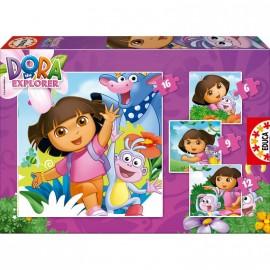 Puzzle Progresivo 3-9-12-16 Dora