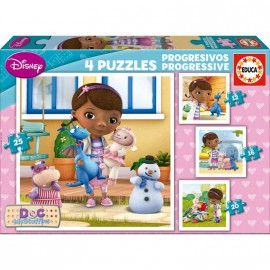 Puzzle Progresivo 12-16-20-25 Doctora Juguetes