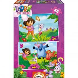 Puzzle 48x2 Dora la Exploradora