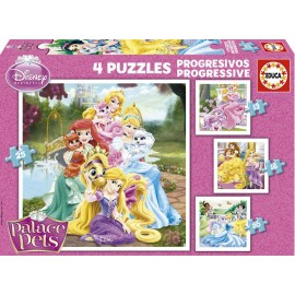 Puzzle Progresivo 12-16-20-25 Princesas