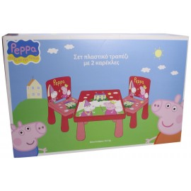 Mesa y Sillas Peppa Pig