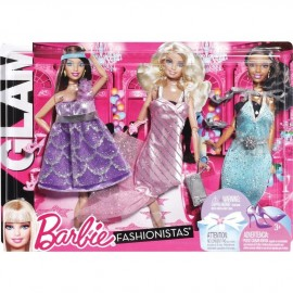 Pack 3 Vestidos Barbie