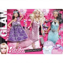 Pack 3 Vestidos Barbie