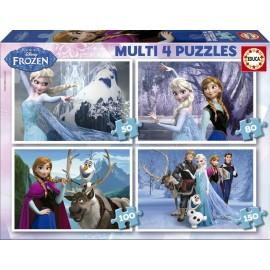 Puzzle Progresivo Frozen 4 en 1