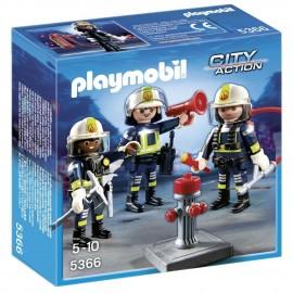 Equipo de Bomberos Playmobil