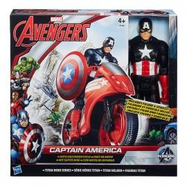 Capitan America con Moto