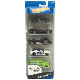 Hot Wheels Pack 5 Vehiculos Batman