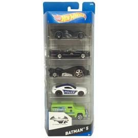 Hot Wheels Pack 5 Vehiculos Batman