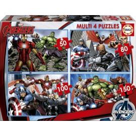 Puzzle Progresivo Avengers 4 en 1