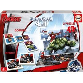 Super Pack 4 en 1 Avengers
