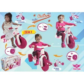 Triciclo Bici Custom Rosa