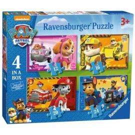 Puzzle Progresivo Paw Patrol 4 en 1