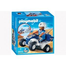 Policia con Quad Playmobil