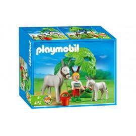 Burro con Bebe Playmobil