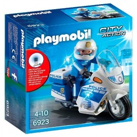 Moto Policia con Led 6923