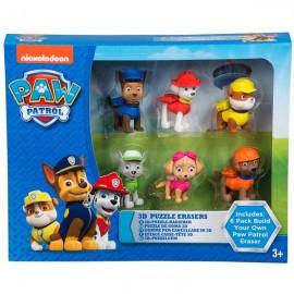 Caja 6 Figuras Goma-Puzzle Paw Patrol