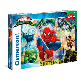 Puzzle 104 Spiderman Fluorescente