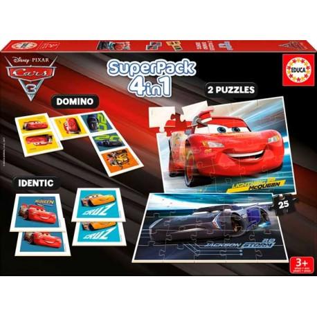 Super Pack 4 en 1 Cars