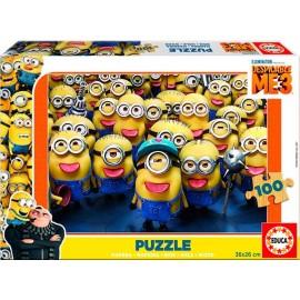 Puzzle 100 Minions Madera