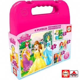 Maletin Puzzle Progresivo Princesas
