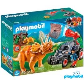 Coche con Triceratops Playmobil
