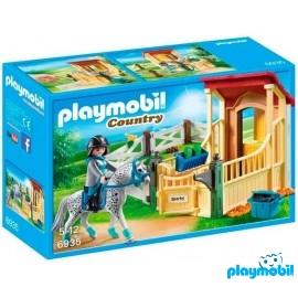 Caballo con Establo Playmobil