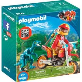 Moto con Velociraptor