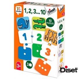 1,2,3....10 Puzzle 3 Piezas
