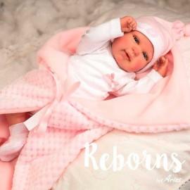 Reborn Mies Rosa con Manta