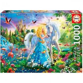 Puzzle 1000 La Princesa y el Unicornio