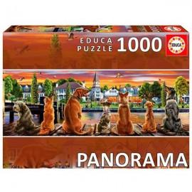 Puzzle 1000 Perros en Embarcadero