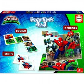 Super Pack 4 en 1 Spiderman