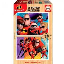 Puzzle 25x2 Los Increibles 2