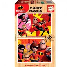 Puzzle 50x2 Los Increibles 2