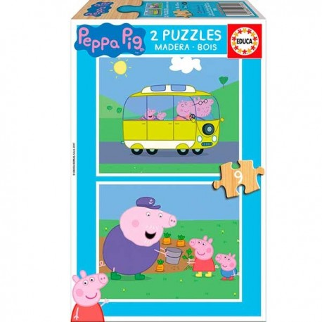Puzzle 9x2 Peppa Pig