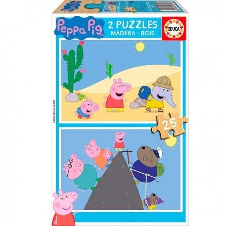 Puzzle 25x2 Peppa Pig