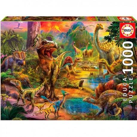 Puzzle 1000 Tierra de Dinosaurios
