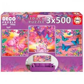 Puzzle 500x3 Vistas Tropicales