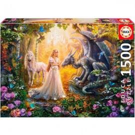 Puzzle 1500 Dragon y Princesa