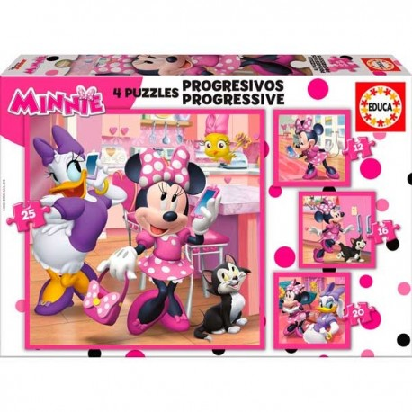 Puzzle Progresivo 12-16-20-25 Minnie
