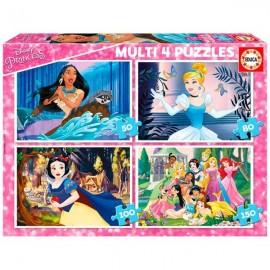 Puzzle 4 en 1 Princesas