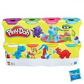 Play Doh 4+4 Botes Surtido