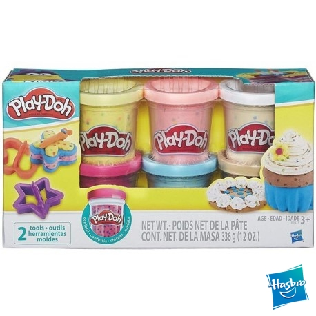Play Doh Pack 6 Cofetti