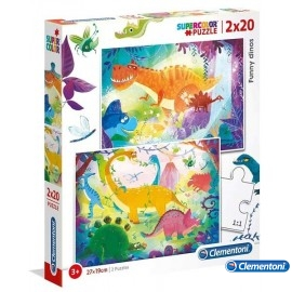 Puzzle 20x2 Funni Dinos
