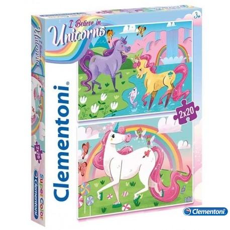 Puzzle 20x2 Unicornios