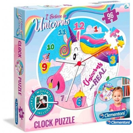 Puzzle Reloj Unicornio