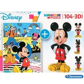 Puzzle 104 3D Mickey