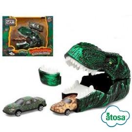 Lanzador de Coches Dinosaur